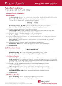 Program Agenda - Stony Brook Neurosciences Institute