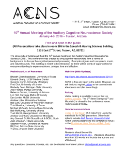 10 Annual Meeting of the Auditory Cognitive Neuroscience Society