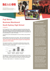 Fuji Xerox - South Sydney High School