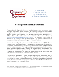 Working with Hazardous Chemicals