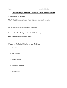 Weathering, Erosion, and Soil Quiz Review Guide