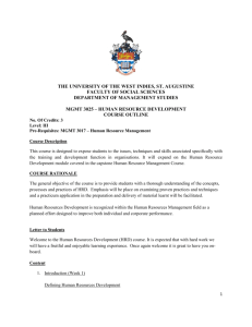 MGMT 3025 - UWI St. Augustine - The University of the West Indies