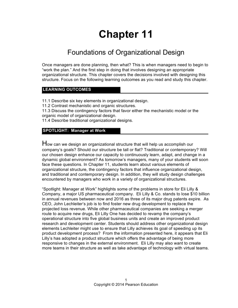 eli lilly company organizational structure