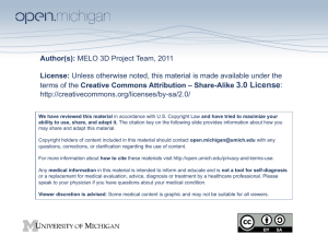 Author(s): MELO 3D Project Team, 2011 License