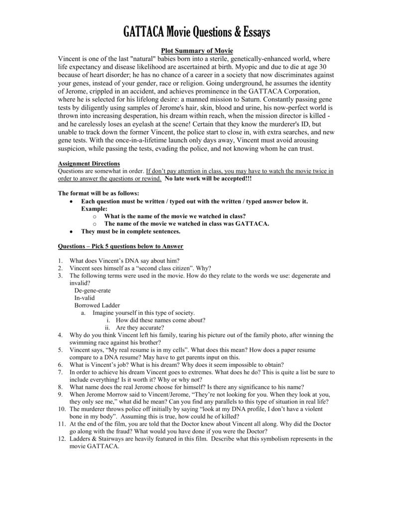Gattaca - Free Essay Example by Essaylead