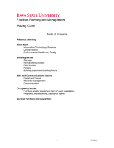 Facilities Planning and Management Moving Guide