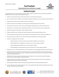 Guiding Principles for Curriculum