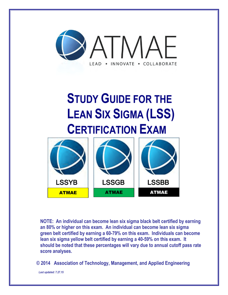 Study guide for the lean six sigma lss certification exam 1betcityfo Gallery