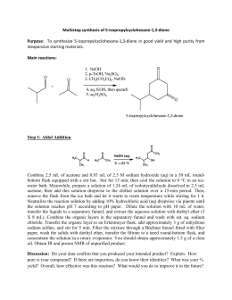 Multistep synthesis of 5-isopropylcyclohexane-1,3