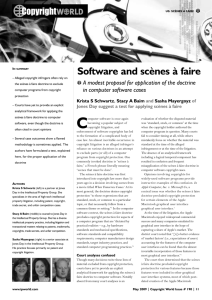 Software and scènes à faire