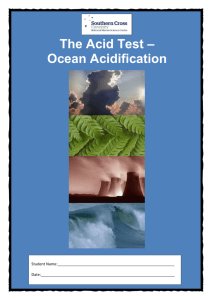 The Acid Test – Ocean Acidification