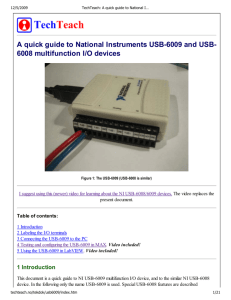 TechTeach: A quick guide to National Instruments USB