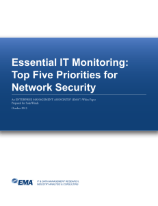 Essential IT Monitoring: Top Five Priorities for Network Security