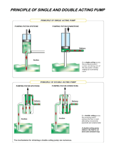 principle of single and double acting pump