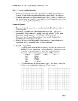 AP Statistics – Ch 4 – More on Two-Variable Data