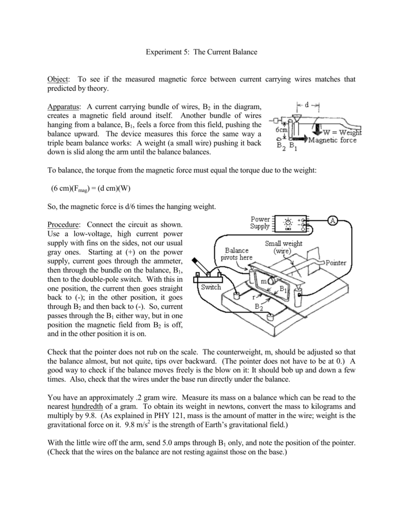 Balanced Magnetic Switch Wiring Diagram Schematic Diagrams Starter Mag Experiment 5 The Current Balance Object To See If Measured Air Compressor