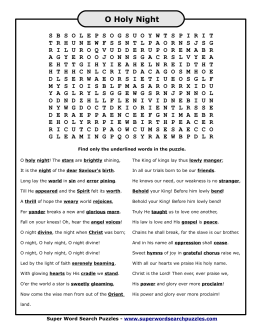 O Holy Night - Word Search Puzzles