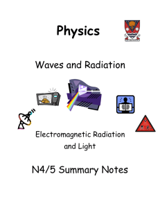 Summary Notes- EM spectrum and Light - lesmahagow.s