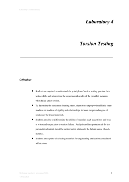 Laboratory 4 Torsion testing