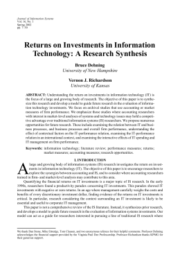 return on investment in information technology