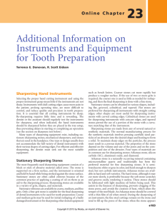 Additional Information on Instruments and Equipment for Tooth