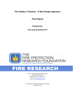 Fire Safety in Theatres - A New Design Approach Final Report