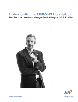 Understanding the MSP Marketplace