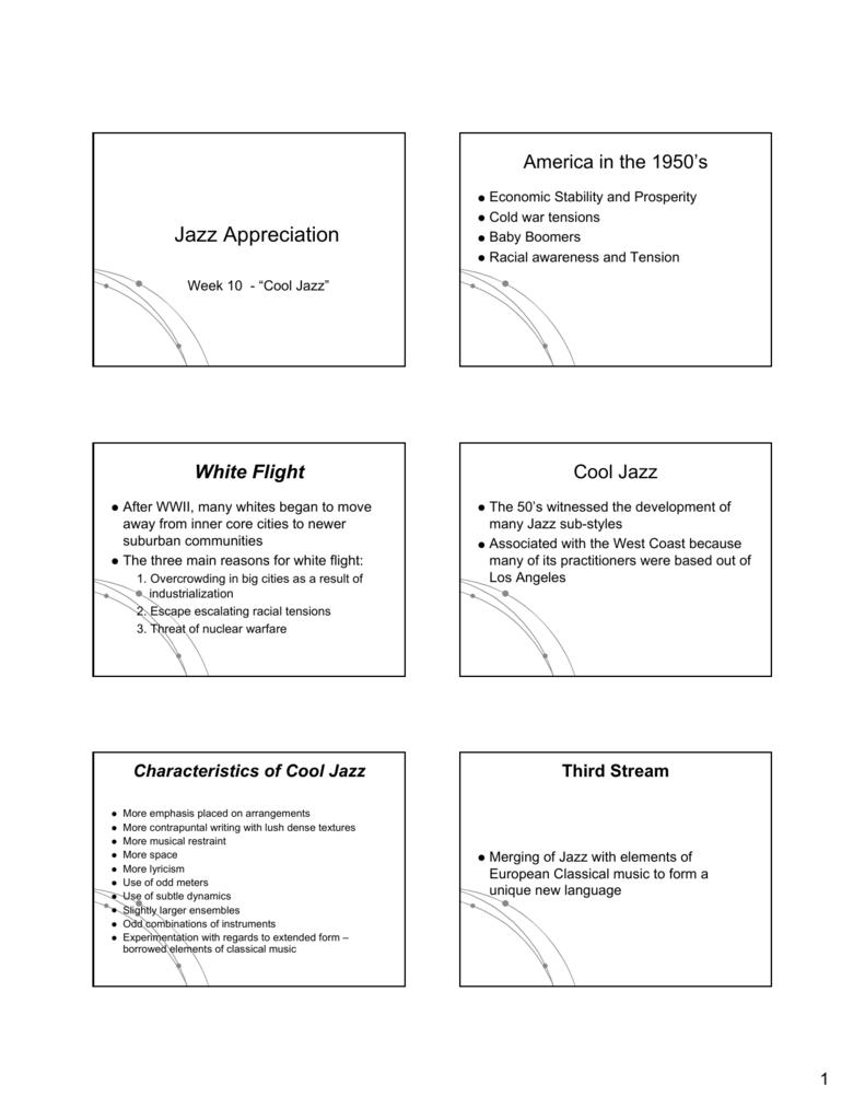 Jazz History -PowerPoint Presentation 9
