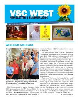 welcome message - Vincentian Service Corps West