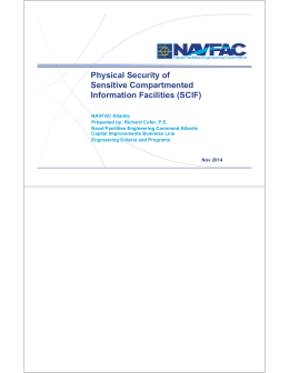 Physical Security of Sensitive Compartmented Information Facilities