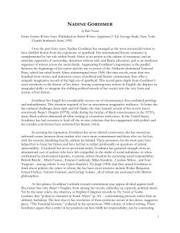 how nadine gordimer ends her stories essay Essays and criticism on nadine gordimer - gordimer, nadine nadine gordimer gordimer, nadine (vol 123) - essay nadine gordimer's scene in her short stories.