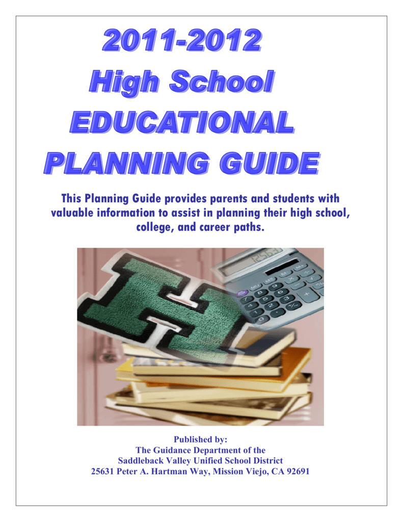 H S  Planning Guide () - Saddleback Valley Unified School