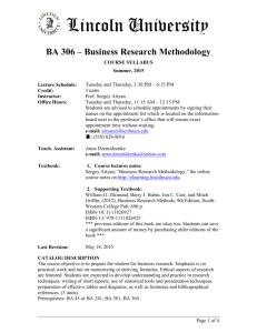 Business Research Methodology