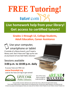 Live homework help from your library! Get access to cerƟfied tutors!