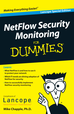 NetFlow Security Monitoring For Dummies®, Lancope