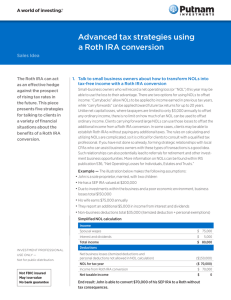 Advanced tax strategies using A Roth IRA conversion