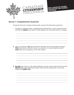 How Canadians Govern Themselves Worksheet Senior English