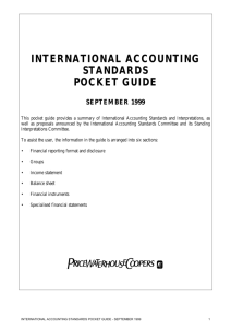 international accounting standards pocket guide