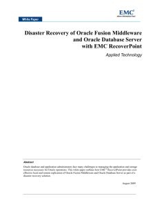 Disaster Recovery of Oracle Fusion Middleware and