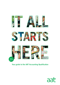 Your guide to the AAT Accounting Qualification