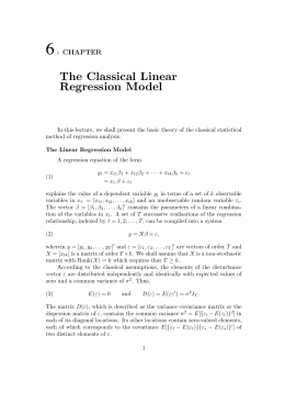 The Classical Linear Regression Model