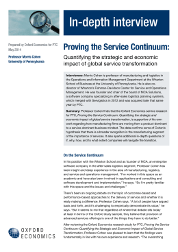 Proving the Service Continuum