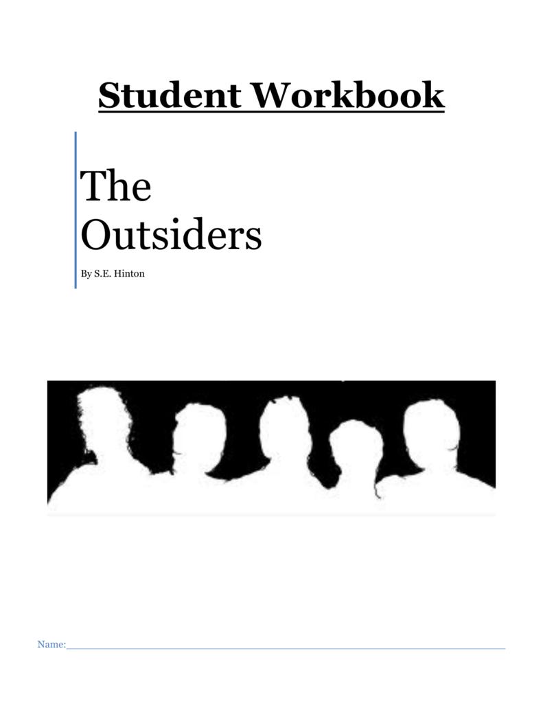 Workbooks the outsiders workbook : Saint trading card sample back