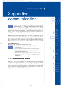 Supportive communication - Toolkit sport for development