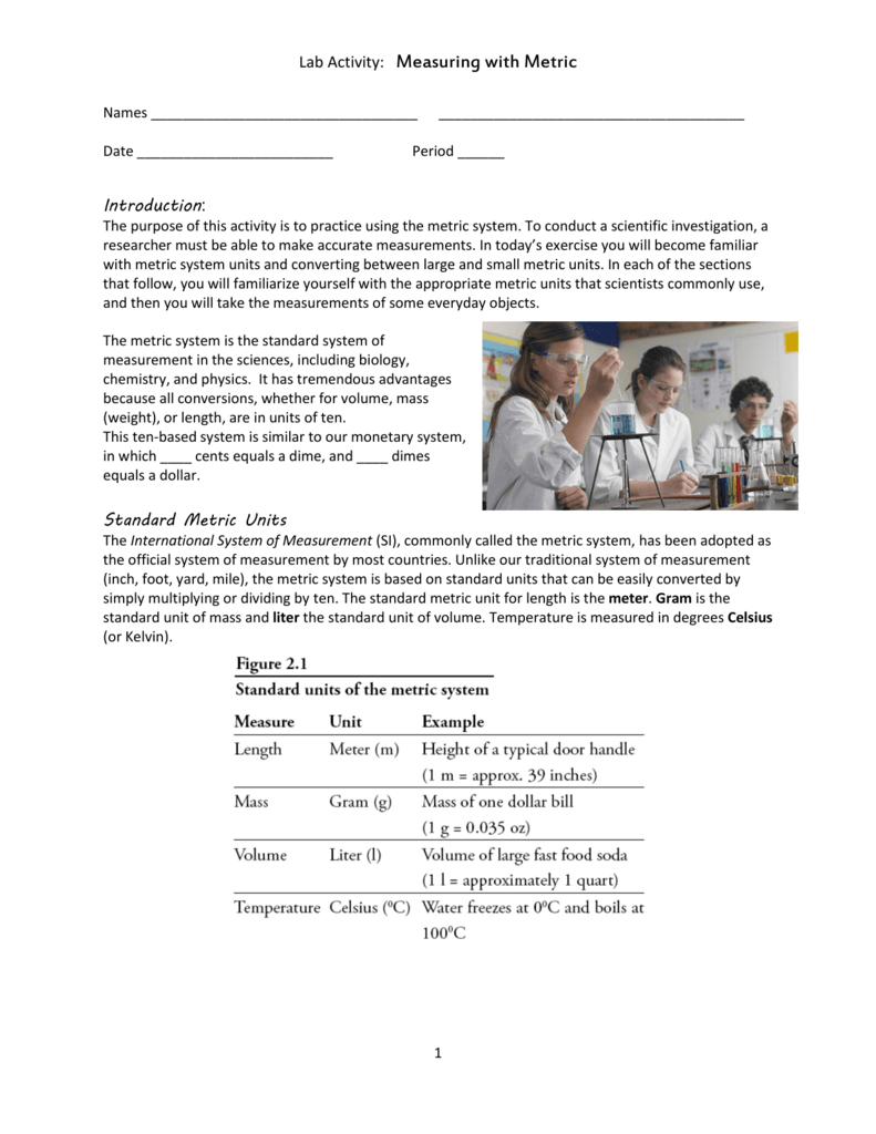 Lab Activity: Measuring with Metric