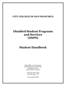 DISABLED STUDENT PROGRAMS AND SERVICES