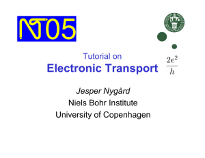 Tutorial on Electronic Transport