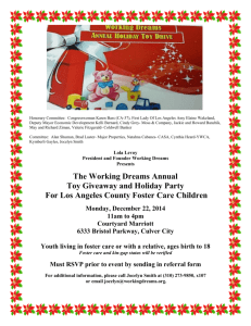 The Working Dreams Annual Toy Giveaway and Holiday Party For