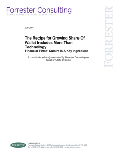 The Recipe for Growing Share Of Wallet Includes More