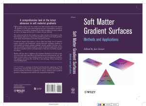 Soft Matter Gradient SurfacesMethods and Applications